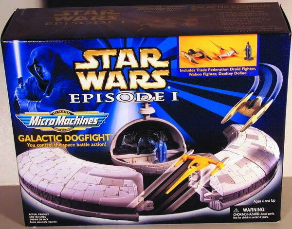 Star Wars GALACTIC DOGFIGHT PLAYSET Episode I 1  Micro Machines MIB