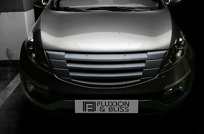 Front Hood Tuning Radiator Grill Matte Black 1p For 11 12 13 14 15 Kia Sportage