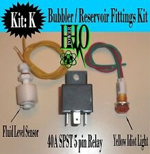 Float Switch, Yellow Idiot Light, 12v DC 40A Relay HHO Bubbler Reservoir Tank
