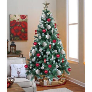 NEW-6FT-CHRISTMAS-TREE-DECORATION-THICK-PLANT-ARTIFICIAL-XMAS-STAND-FESTIVE-GIFT