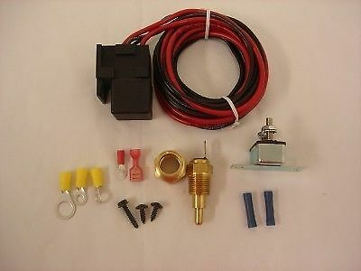 Electric Cooling Fan Control Kit with Relay and Temp Switch temperature cool