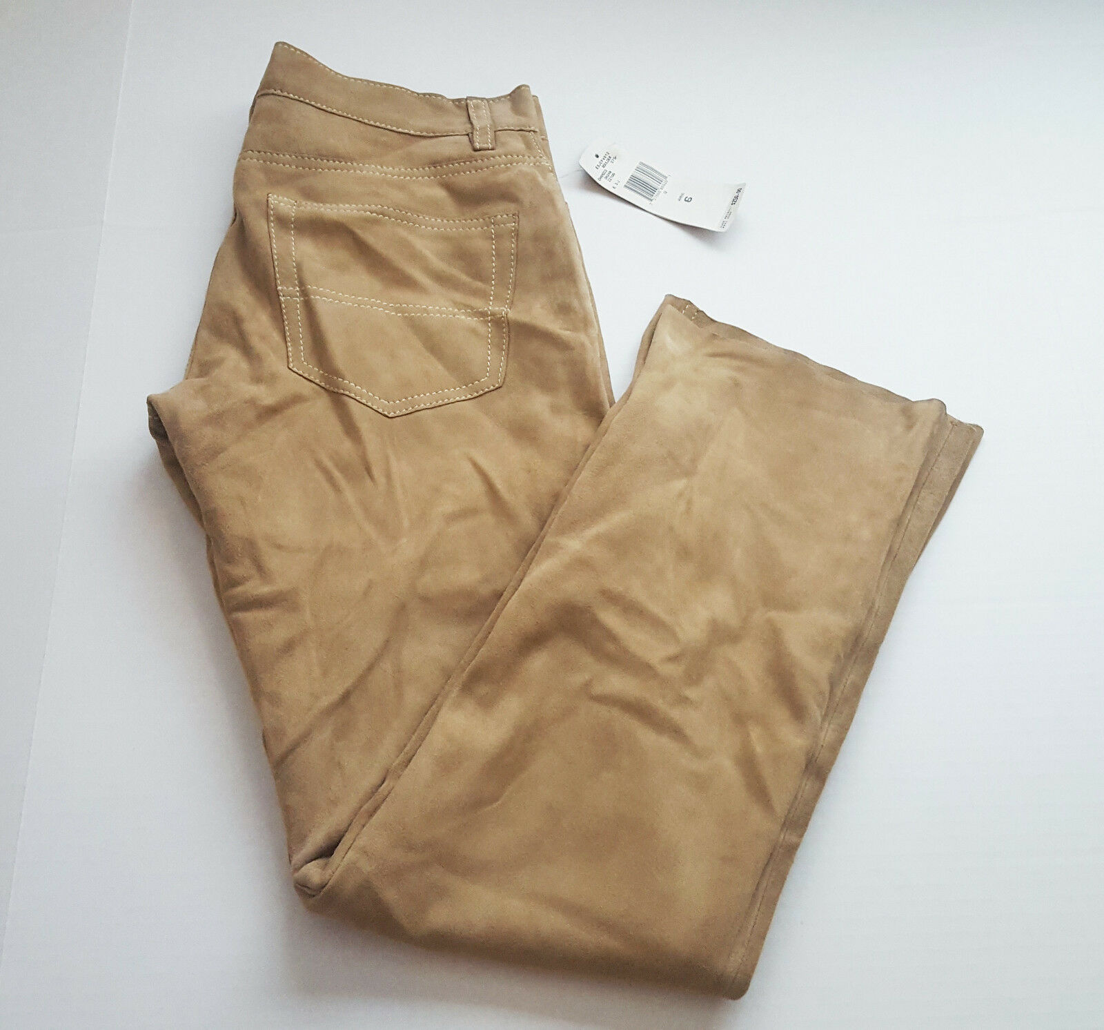 Polo Jeans Co Ralph Lauren Size 6 Chamois Leather Brown Beige Pants NWD D46