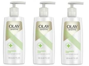 3-Olay-Sensitive-Fragrance-Free-Calming-Liquid-Cleanser-6-7-FL-Oz-Each-NEW
