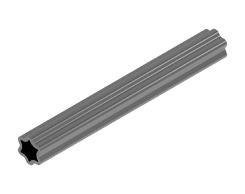 Weasler 5 Foot x 51 MM x 6 MM Wall Star Shaped Inner Profile Tubing 400-7651