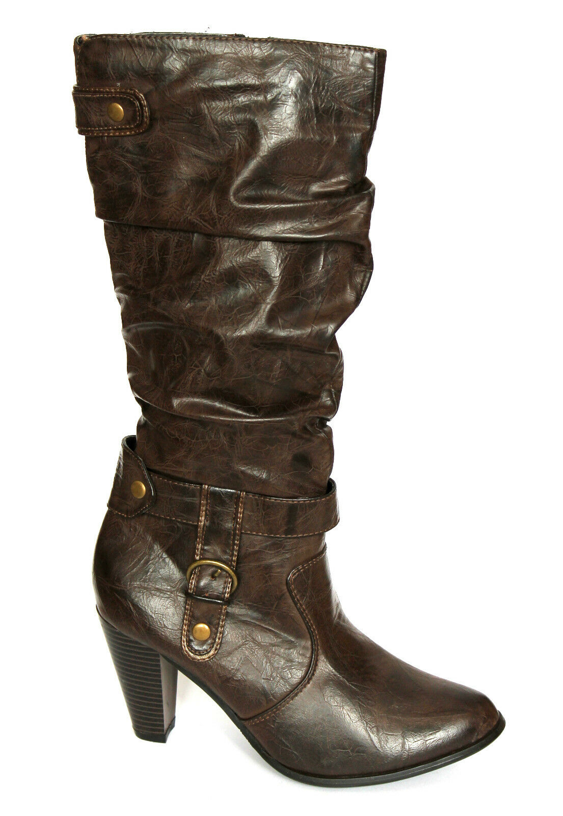 Gioseppo Ladies Yuna High Heel Knee High Slouch Boots RRP