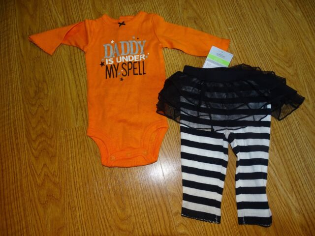 NEW NWT Boys Girls Carter/'s Halloween Sets Newborn 3 6 9 Months Sleepers Bib