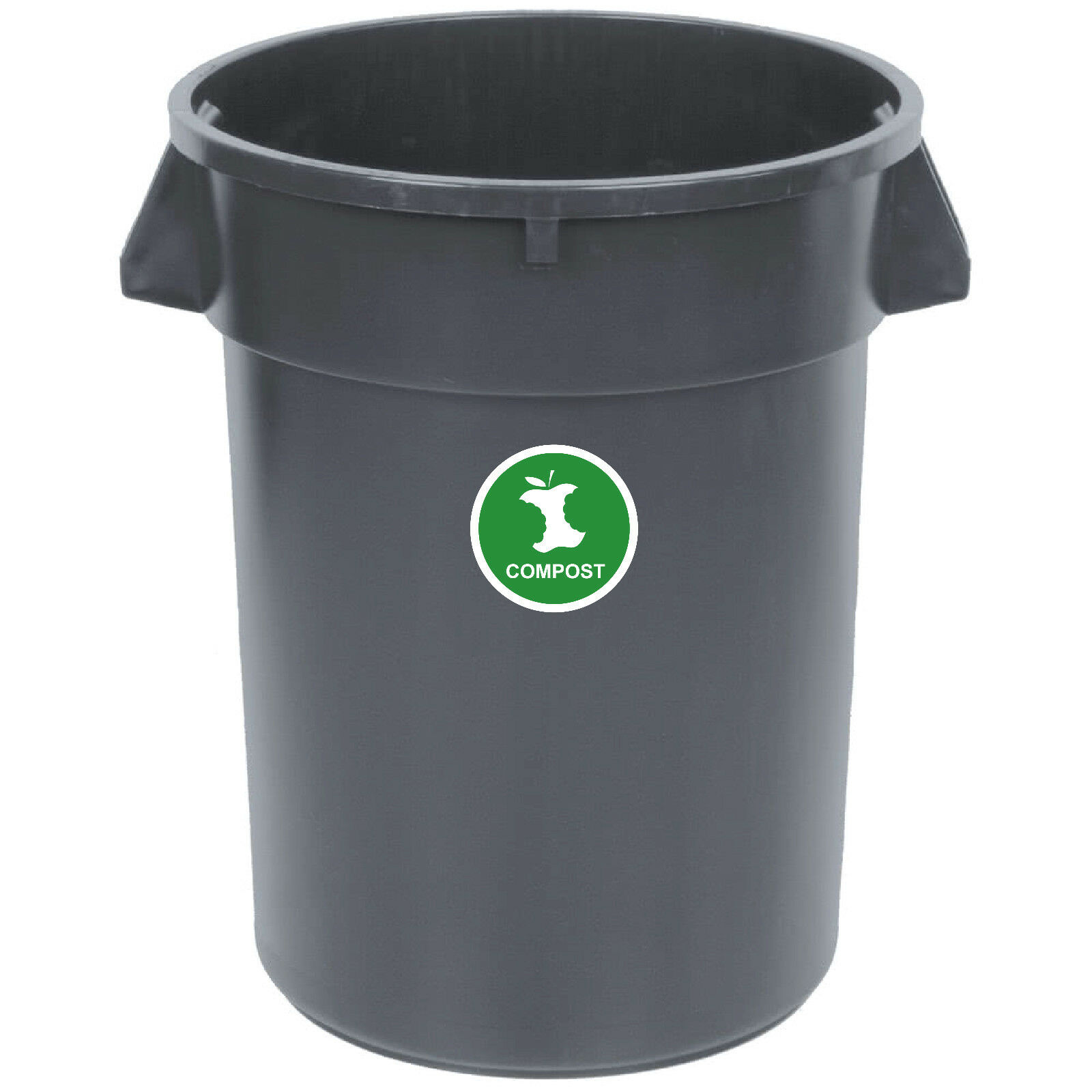 3 x 3, Black-White Yoonek Graphics Recycle and Trash Decal Sticker for Trash cans for Personal Home or Business use # 953