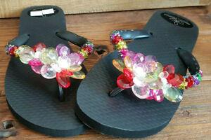 size 40 77916 8c5fc Details zu Luxus Flip Flops - Chanclas by Simone Herrera - Größe 37-38