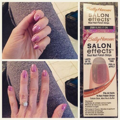 Sally Hansen Salon Effects Real Nail Polish Strips 260 Glitz Blitz ...