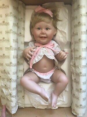 w// Box /& CoA Ashton Drake Porcelain Doll #76411 Cute as a Button Titus Tomescu