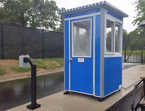 New 4 X4 Security Guard Shack Ticket Booth Parking
