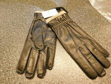 Men's Black Leather Gloves Cashmere Lined, Made in Italy Med Bloomingdales_ R9B2
