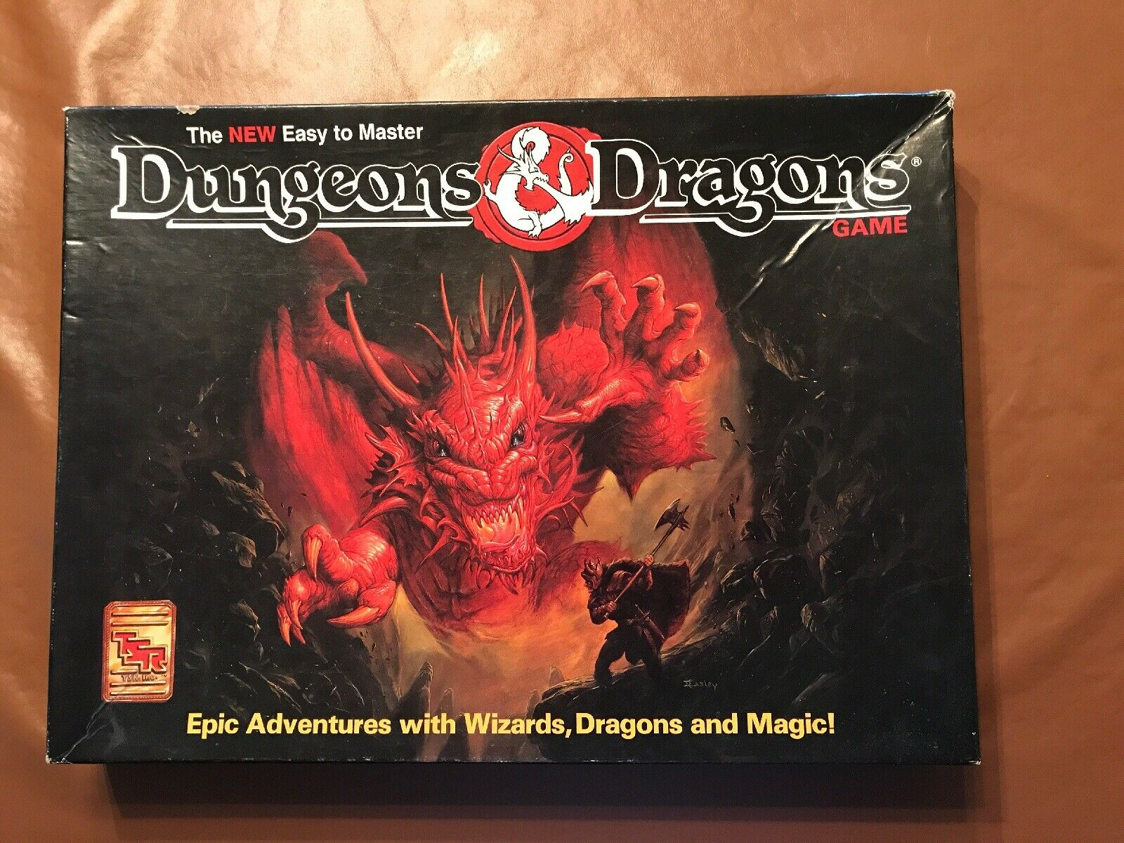 TSR Dungeons & Dragons The New Easy to Master D&D Box Set w poster No Map