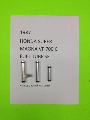 1987 HONDA SUPER MAGNA VF 700 C  SET OF ALLUMINUM CARB FUEL TUBES