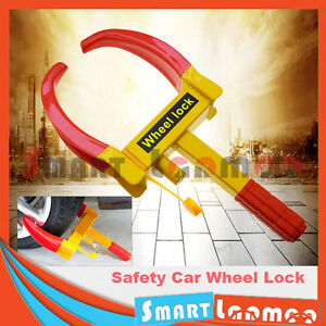 Steel-Car-Wheel-Lock-Antitheft-Safety-Clamp-Security-Tyre-Vehicle-3-Keys-Trailer
