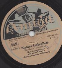 Kurt Hohenberger Solisten + Liselotte Malkowsky : Kleines Liebeslied