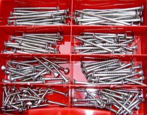 Sortimentkasten 220 Teile Torx Edelstahl Schrauben 3,0 x 20 bis 4,5 x 70 mm