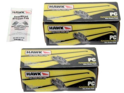 Hawk Performance Ceramic Brake Pads Front /& Rear BMW 525xi 528i 530i 535i xDrive