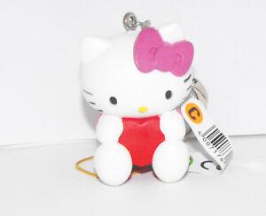 Hello Kitty Pink Bow Red Heart 2 inch Plastic Figurine Key Chain Figure Keychain