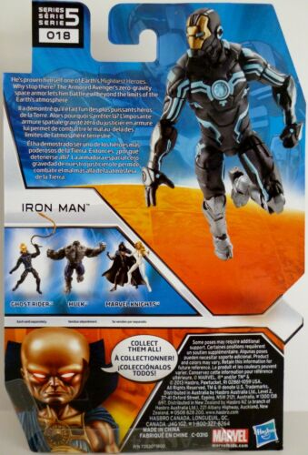 "Marvel Universe 4/"" Figure #18 Series 5 2013 IRON MAN ZERO-GRAVITY SPACE ARMOR"