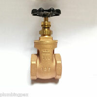 Hammond 606 Bronze 1-1/4 Gate Valve Female Ips Made In Usa
