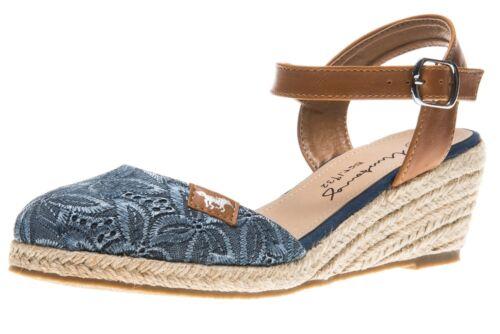 MUSTANG Shoes ballerines en Grandes Tailles Grandes Chaussures Femmes Bleu XXL