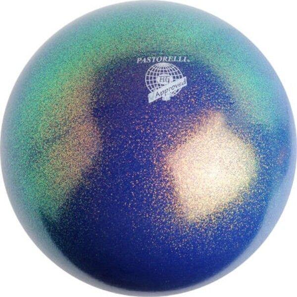 RSG WETTKAMPFBALL Gymnastikball blau PASTORELLI Blau ocean GLITTER HV FIG FIG FIG Neu 996700