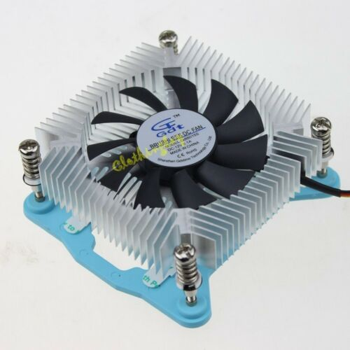 Computer CPU Thin Aluminium Heatsink 12V 3Pin DC Cooling Fan