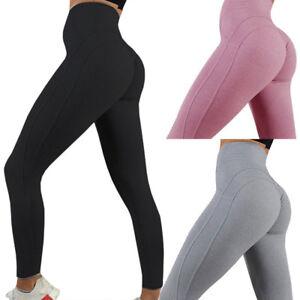 8e014eef99 Women Push Up Sport Scrunch Butt Lift Elastic Leggings Gym Yoga ...
