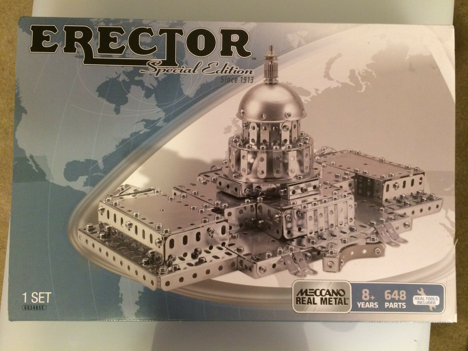 Meccano Erector Set Limited Edition Capitol Hill Building Set 648 Pcs New in Box