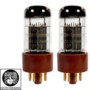 Brand New Gain Matched Pair 2x Electro-Harmonix 6SN7 Gold Pin Vacuum Tubes