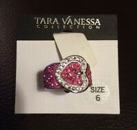 Tara Vanessa Collection Pink Buckle Ring; Size 6