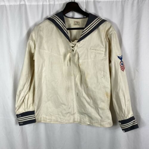 Vintage 1920s Womens Midi Sailor Blouse
