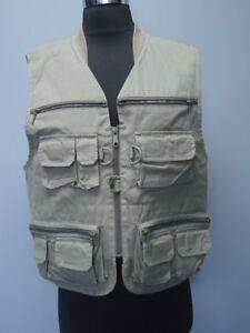 Jones New York Sport Dark Green Pockets Full Zip Casual Vest Sz M Ff1541