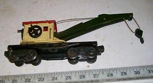 Vintage-LIONEL-2560-Mostly-Metal-Tinplate-Derrick-Train-Crane-Car-O-O-27-Gauge