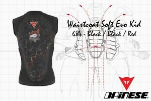 NEW-DAINESE-WAIST-COAT-SOFT-EVO-KID-WINTERSPORT-BACK-PROTECTOR-BLACK-RED-SIZE-JL