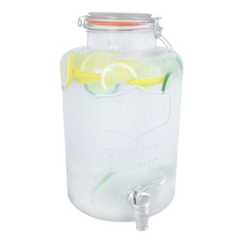 8 OR 7.6 OR 6 LITER DRINKS DISPENSER GLASS//PLASTIC JAR FOR HOME OUTDOOR PICNIC