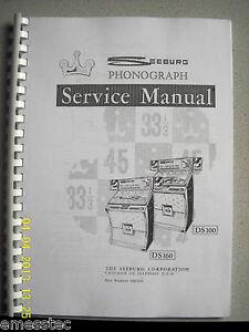 SEEBURG DS100 DS160 Service Manual, Juke Box