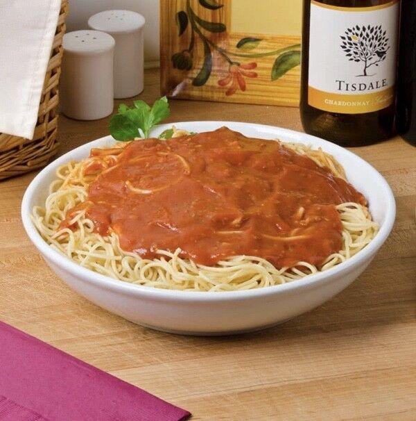 Set Of 2 Large White Spaghetti Carbonara Ravioli Pasta Bowls Dishes 25.5cm 56oz