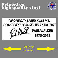 Car Styling Fast /& Furious Paul Walker Vin Diesel Car Window Sticker Glass Acces