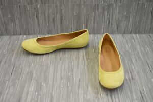 Naturalizer-Brittany-Suede-Ballet-Flats-Women-039-s-Size-11W-Yellow
