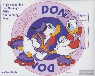 Nuevo Con Goma Original 1999 Walt Disney Figu Clear-Cut Texture Guyana Block587 completa Edición