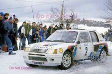 Ari Vatanen Peugeot 205 Turbo 16 Winner Monte Carlo Rally 1985 Photograph 1