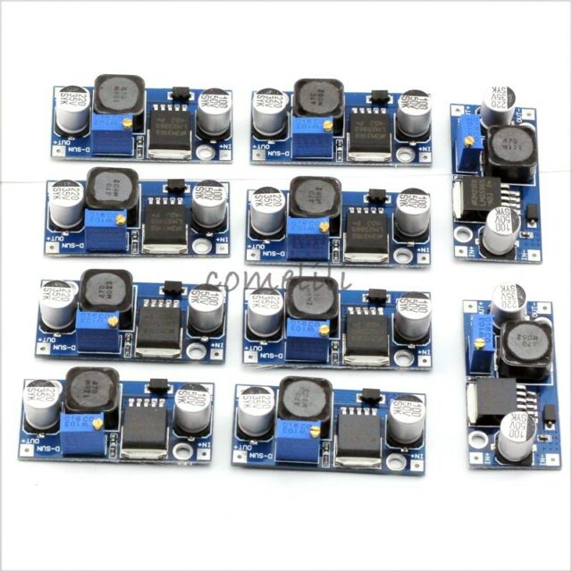 10 pcs DC-DC LM2596 Step Down Adjustable Converter Power Supply Module1.5V-34V