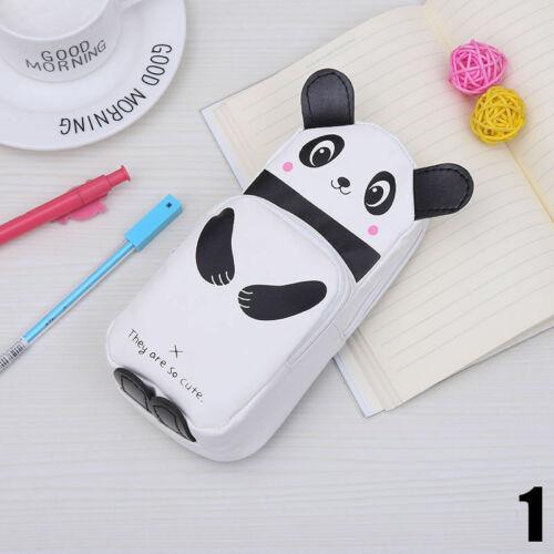 1× Panda Kaninchen Feder Bleistift Kasten  Makeup Bag Kawaii Anime Mäppchen High