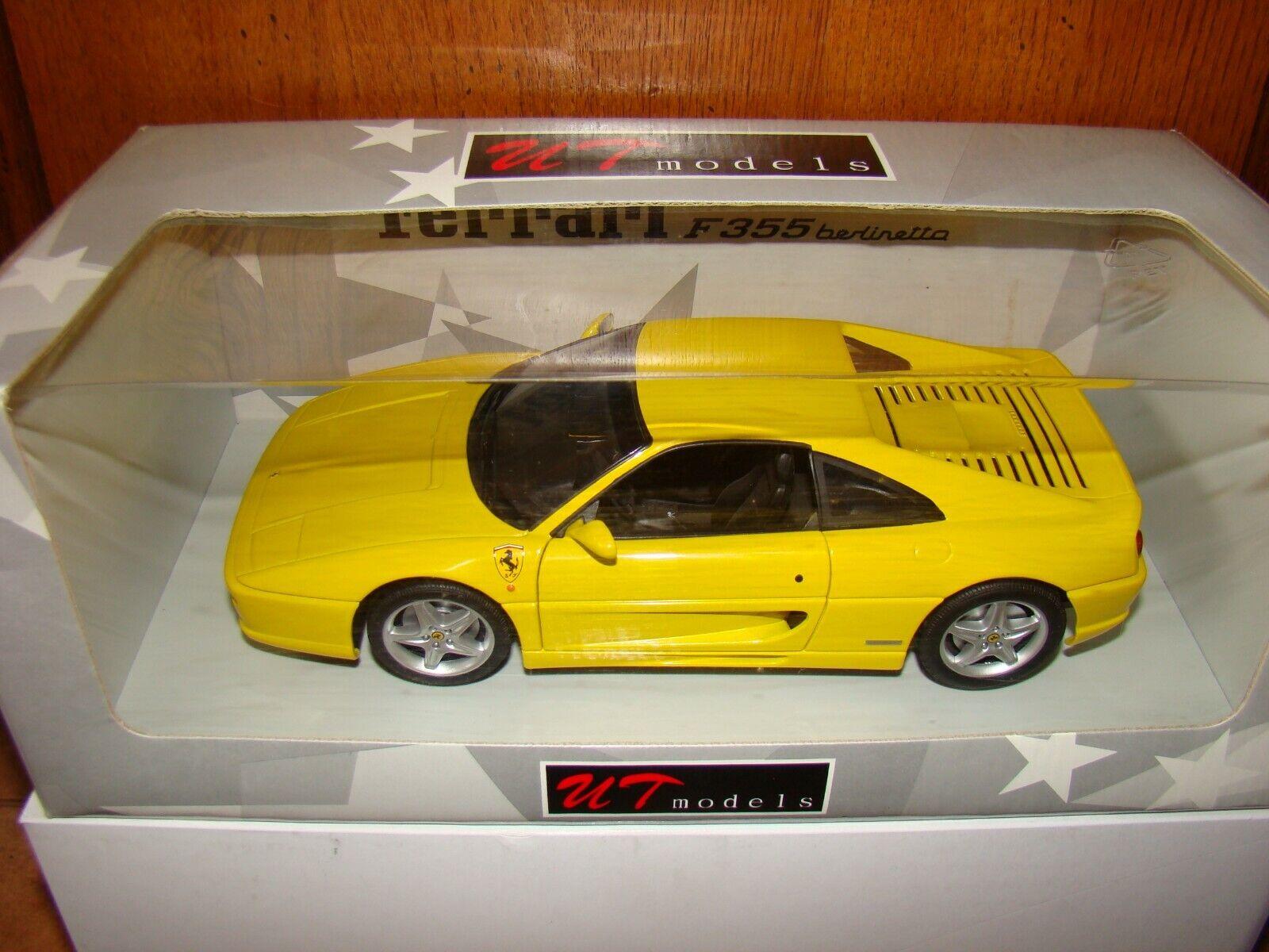 FERRARI 355 GTB UT MODELS amarillo ECHELLE 1 18 EME SOLD OUT súperBE ET RARE