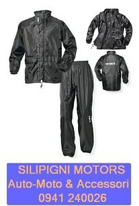SIDI-K-OUT-3-TUTA-DIVISIBILE-ANTIPIOGGIA-MOTO-SCOOTER-IMPERMEABILE-Colore-Nero