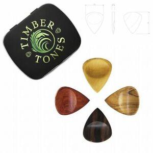 Timber-Tones-039-Groovy-Tones-039-Gift-Tin-of-4-Mixed-Picks-Plectrums