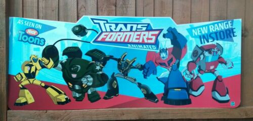 TRANSFORMERS ANIMATED SHOP DISPLAY ADVERTISING SIGN HASBRO 2008 BRAND NEW