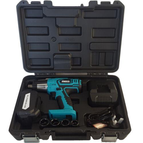 "Moss 18v Cordless Impact Wrench Gun 1//2/"" Drive Reversible /& Light /& Carry Case"